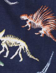 Baby And Toddler Boys Dino Snug Fit Cotton 4-Piece Pajamas