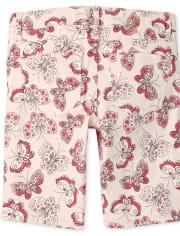 Girls Print Twill Skimmer Shorts