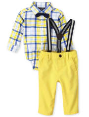 Baby Boys Dad And Me Plaid Poplin Outfit Set