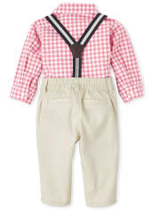 Baby Boys Gingham Poplin Outfit Set