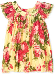 Baby Girls Floral Pleated Dress