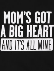 Baby And Toddler Boys Mom's Heart Graphic Tee