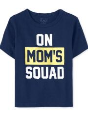 Camiseta estampada Mom ' s Squad para bebés y niños pequeños