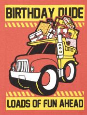 Camiseta estampada con motivo de cumpleaños para bebés y niños pequeños