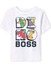 Baby And Toddler Boys Dino Boss Graphic Tee