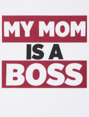 Baby And Toddler Boys Mom Boss Graphic Tee