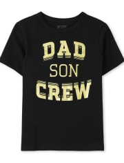 Baby And Toddler Boys Matching Family Dad Crew Graphic Tee
