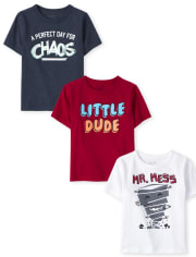 Baby And Toddler Boys Humor Graphic Tee 3-Pack