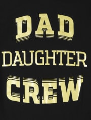 Mens Matching Family Dad Crew Graphic Tee