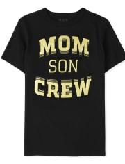 Boys Matching Family Mom Crew Graphic Tee