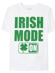 Boys St. Patrick's Day Irish Mode Graphic Tee