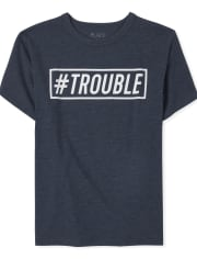 Boys Dad And Me Trouble Graphic Tee