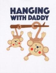 Baby Boys Monkey Bodysuit 5-Pack