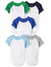 Baby Boys Raglan Bodysuit 5-Pack