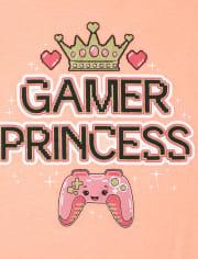 Girls Gamer Princess Graphic Tee