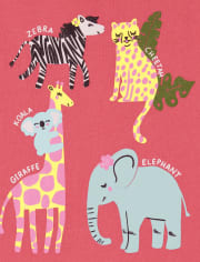 Baby And Toddler Girls Animals Graphic Tee 3-Pack
