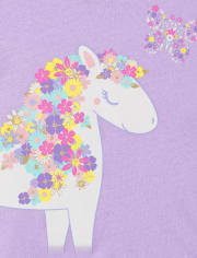 Baby And Toddler Girls Unicorn Graphic Tee 3-Pack
