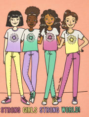 Girls Flower Squad Graphic Tee 2-Pack