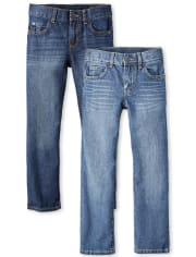 Boys Basic Straight Jeans 2-Pack