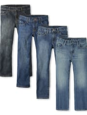 Boys Basic Bootcut Jeans 4-Pack