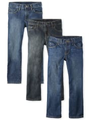 Boys Basic Bootcut Jeans 3-Pack