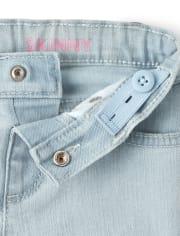 Paquete de 3 jeans ajustados básicos para bebés y niñas pequeñas