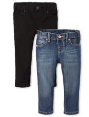 Baby And Toddler Girls Basic Skinny Jeans 2-Pack