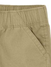 Paquete de 2 pantalones cortos tipo cargo con uniforme para niños pequeños