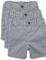 Paquete de 3 pantalones cortos chinos de uniforme para bebés y niños pequeños