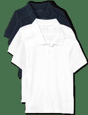 Boys Uniform Pique Polo 4-Pack