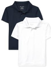 Boys Uniform Performance Polo 2-Pack