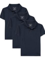 Pack de 3 polos de rendimiento uniforme para niños