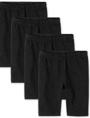 Girls Bike Shorts 4-Pack