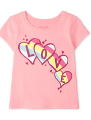 Baby And Toddler Girls Love Graphic Tee