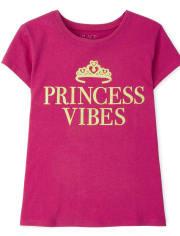 Girls Princess Vibes Graphic Tee