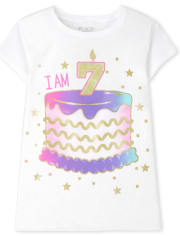 Girls I Am 7 Birthday Graphic Tee