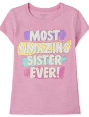 Girls Amazing Sister Graphic Tee