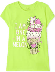 Girls One In A Melon Graphic Tee