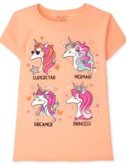 Girls Unicorns Graphic Tee