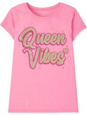 Girls Queen Vibes Graphic Tee