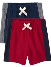 Toddler Boys Side Stripe Shorts 2-Pack