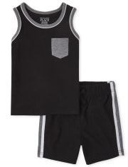 Baby And Toddler Boys 2-Piece Active Set