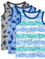Toddler Boys Print Tank Top 3-Pack