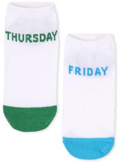 Lot de 7 paires de chaussettes unisexes Days Of The Week pour enfants