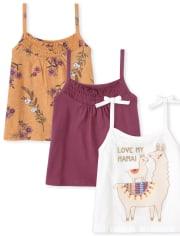 Toddler Girls Smocked Top 3-Pack