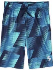 Boys Print Performance Basketball Shorts