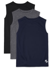 Boys Performance Muscle Tank Top 3-Pack
