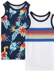 Pack de 2 camisetas sin mangas Tropical para niños