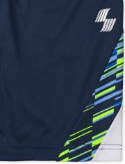 Boys Side Stripe Performance Basketball Shorts 2-Pack