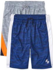 Boys Print Performance Basketball Shorts 2-Pack